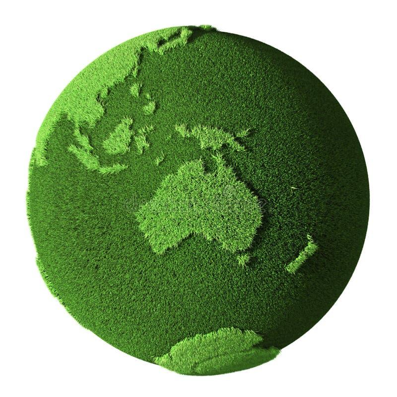 Глобус травы - Австралия бесплатная иллюстрация