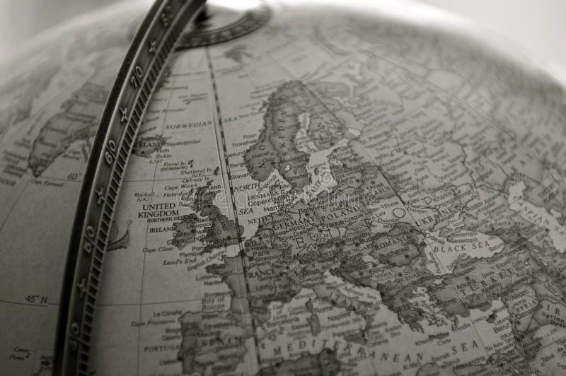 Глобус, sepia стоковая фотография rf