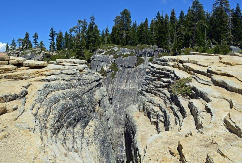 Глубокие борозды на этап Yosemite Taft, Калифорния стоковое фото