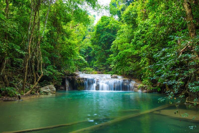 Download Глубокий водопад леса на национальном парке водопада Erawan Стоковое Изображение - изображение насчитывающей падение, сохраньте: 40591233