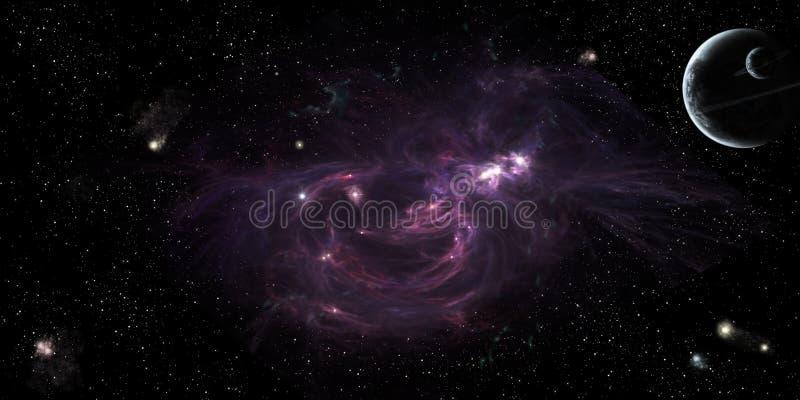 Глубокий космос иллюстрация штока