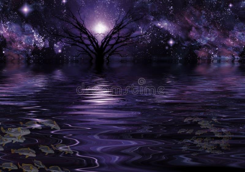 Глубоко - фиолетовая фантазия иллюстрация штока