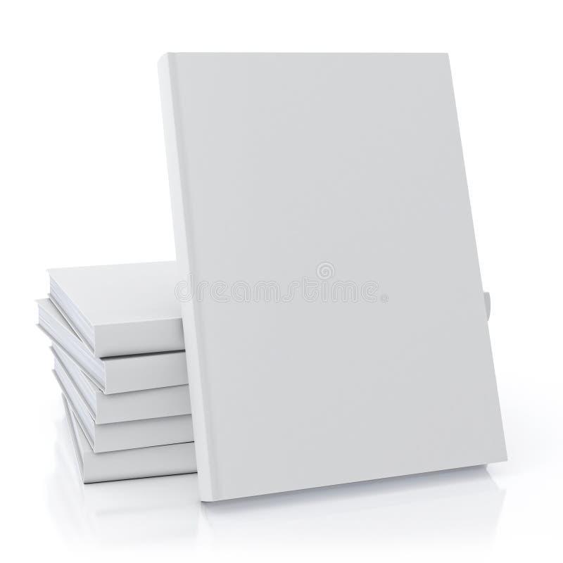 Глумитесь вверх по пустым белым книгам, изолированным на белой предпосылке, шаблон иллюстрация вектора