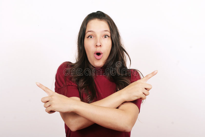 давать женщину смешанных сигналов стоковые изображения rf