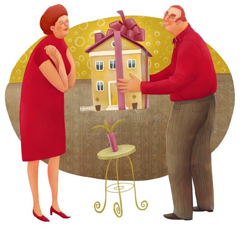 Давать дом иллюстрация вектора