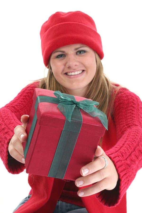 давать подарка стоковое изображение