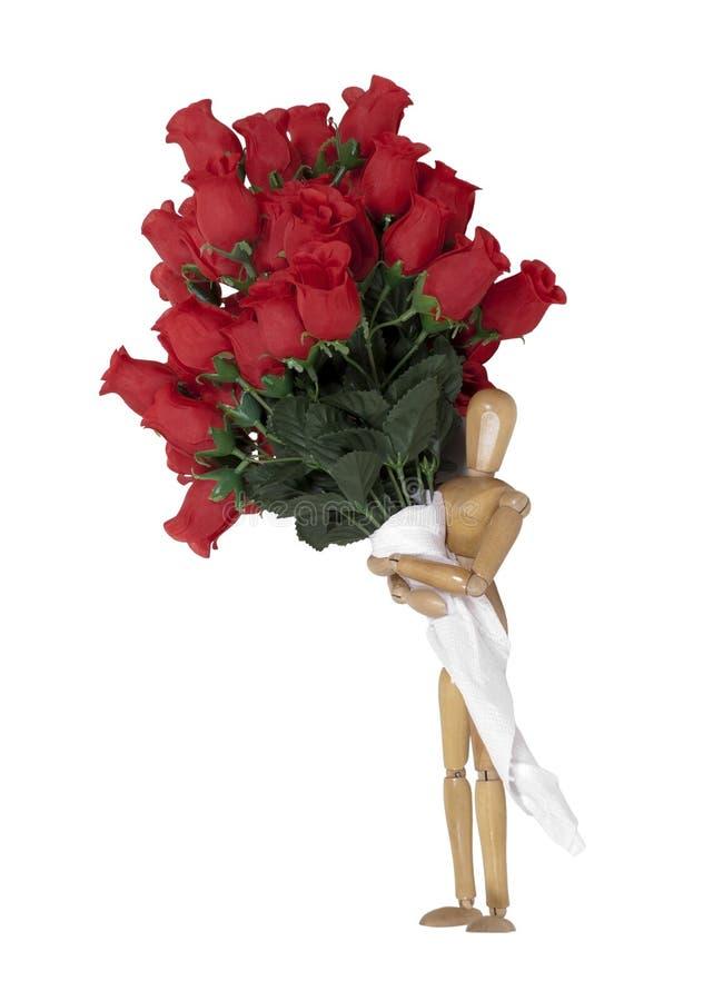 давать розы стоковые фото