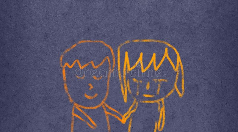 Давать утешение: Легкая иллюстрация щетки иллюстрация штока