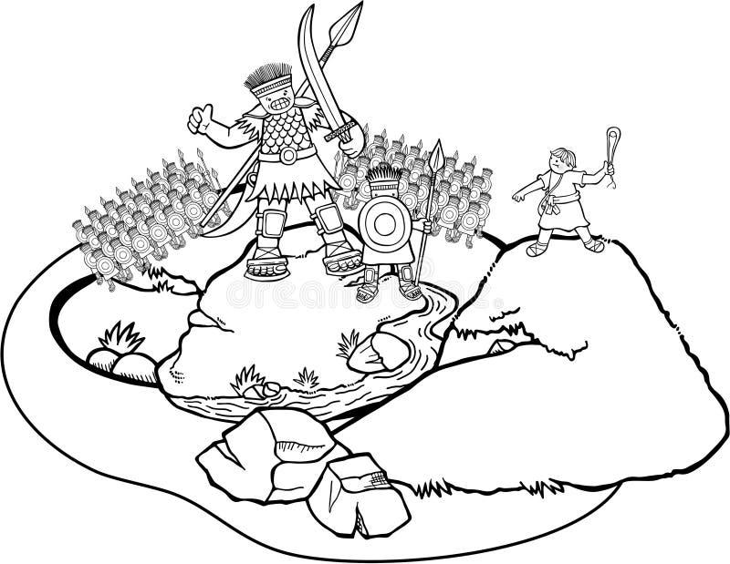 Давид goliath бесплатная иллюстрация