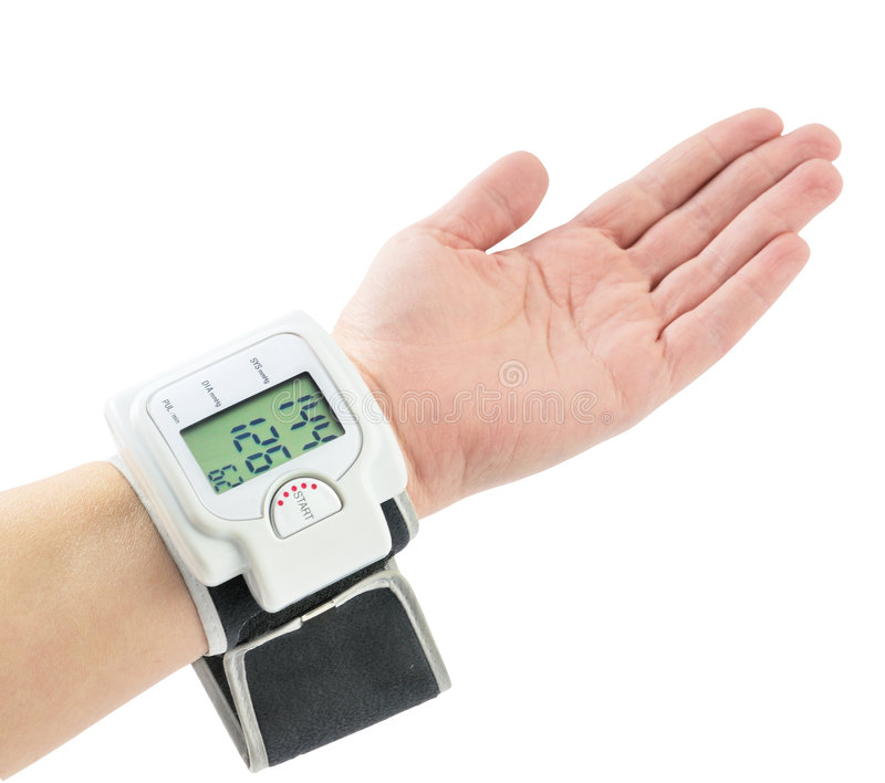 давление аппаратуры крови измеряя стоковые фотографии rf