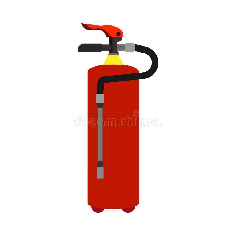 Давление инструмента безопасности огнетушителя красное защитить огнеопасную индустрию плоско Отдел пены значка вектора противопож бесплатная иллюстрация