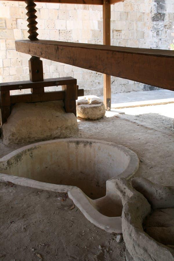 давление масла Кипра прованское стоковое фото rf
