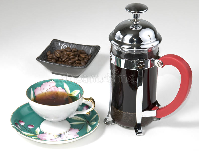 давление франчуза кофе стоковое фото