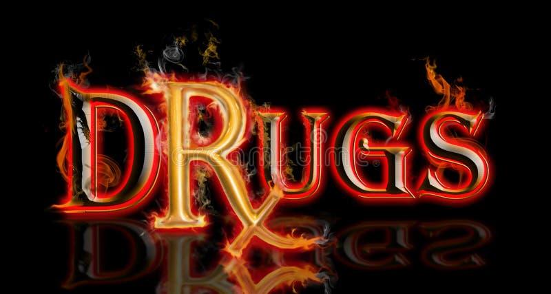 дает наркотики rx стоковое изображение rf