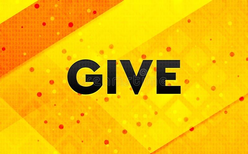Дайте абстрактному цифровому знамени желтую предпосылку иллюстрация штока