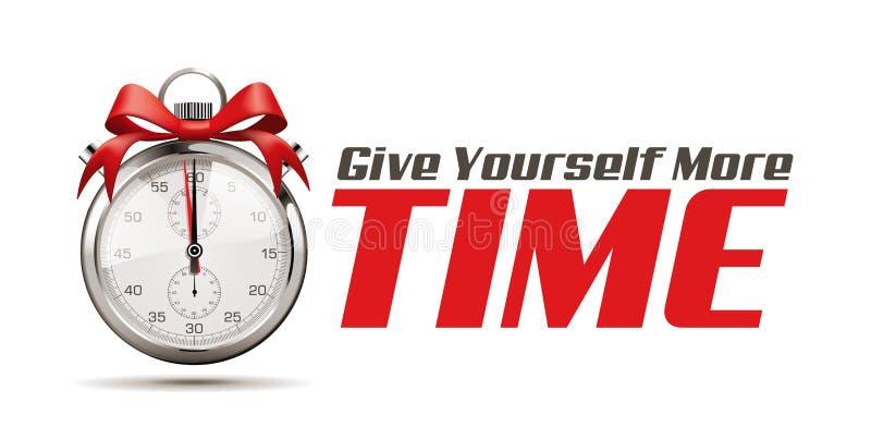 Дайте больше времени - концепцию секундомера иллюстрация вектора