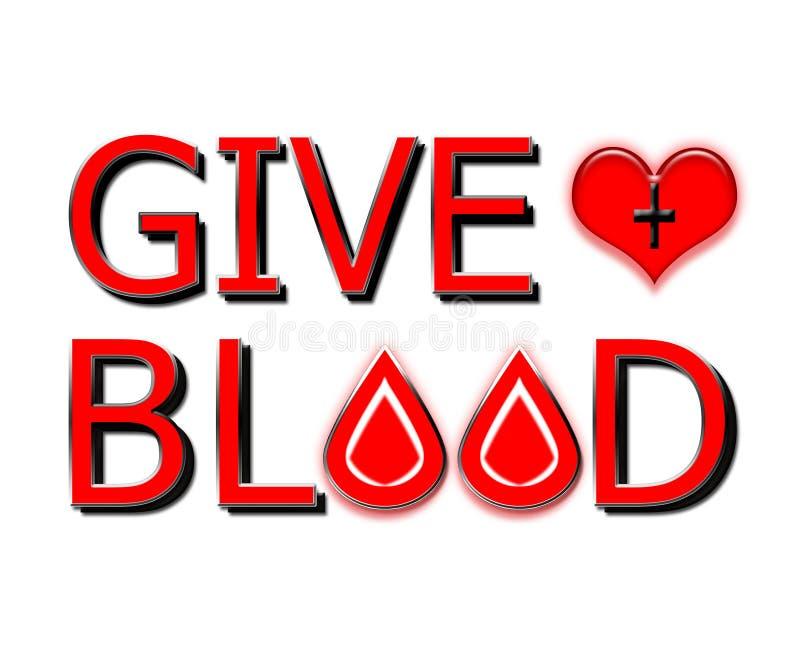 Дайте кровь, подарите концепцию на белизне бесплатная иллюстрация