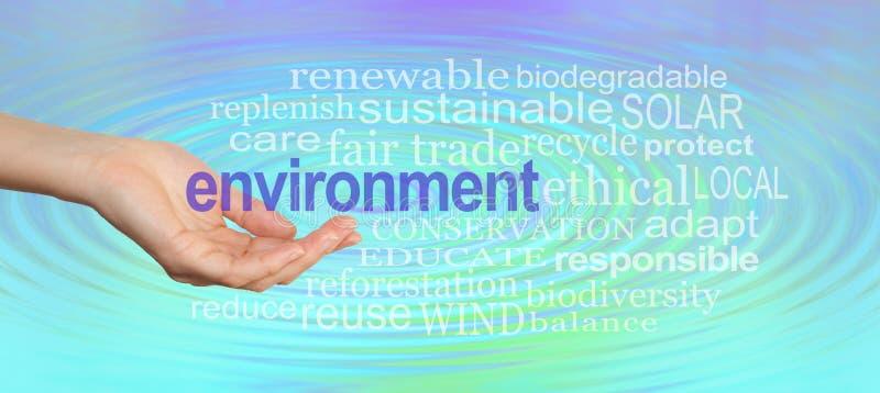 Дайте нашей окружающей среде руку помощи стоковое изображение rf