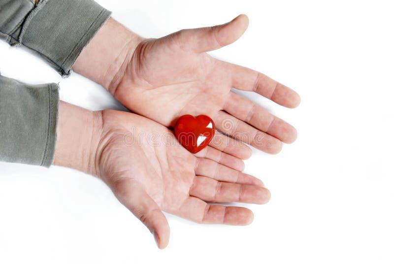 дайте сердце стоковое изображение rf