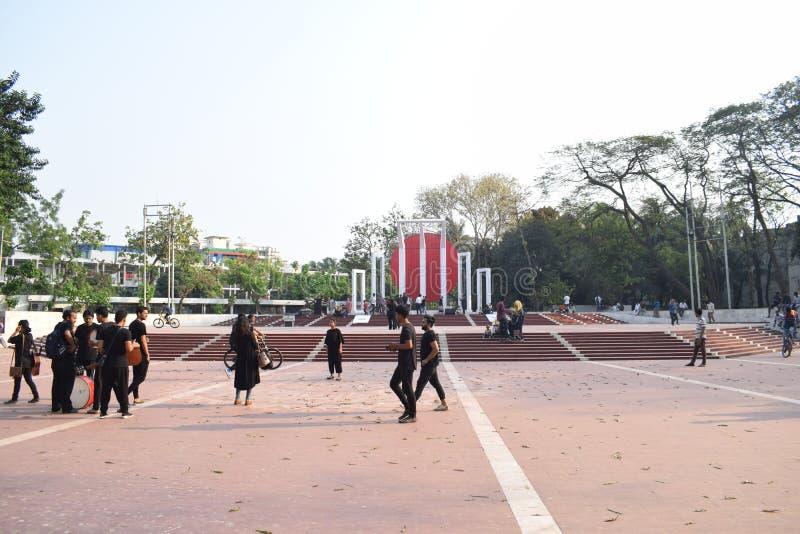 Дакка, Бангладеш, - 17-ое марта 2019: центральный памятник мученика стоковая фотография rf