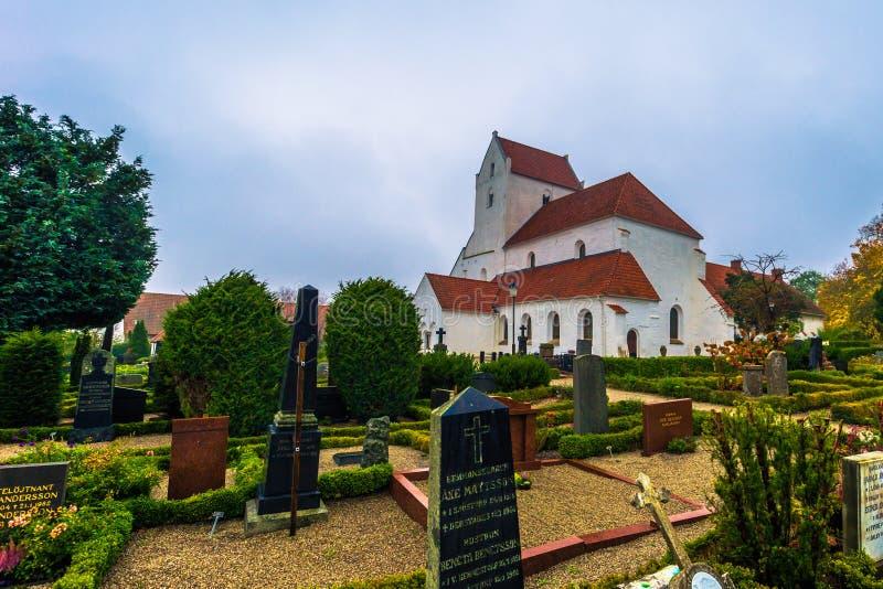 Далби - 21 октября 2017 года: Историческая церковь Священного крестового м стоковая фотография