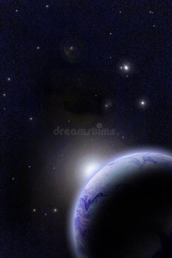 далекая орбита иллюстрация вектора