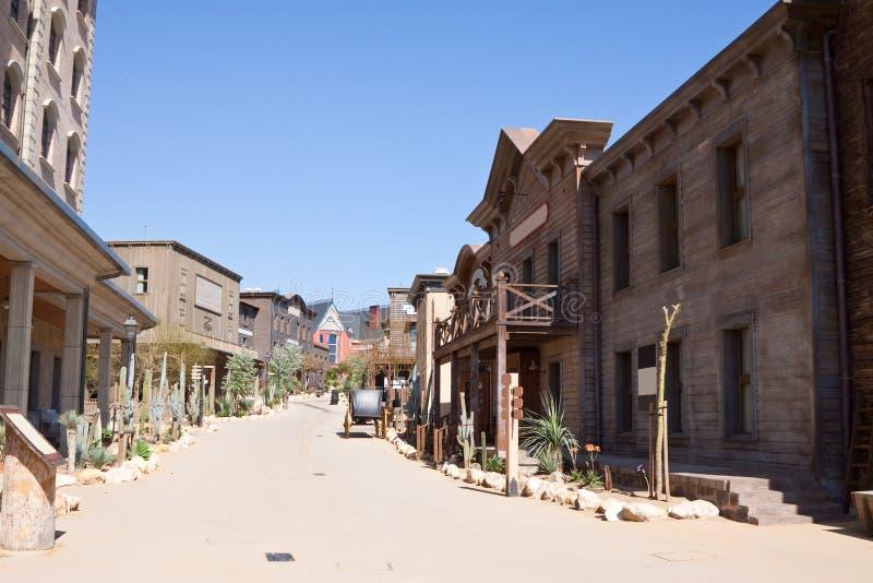 далекий городок западный стоковые фото