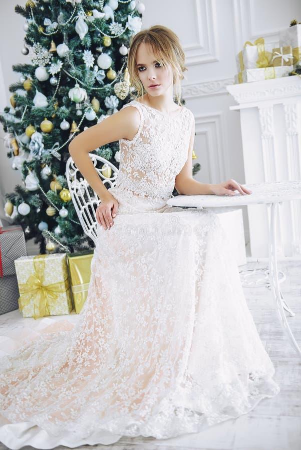 Дама в платье вечера стоковые фото