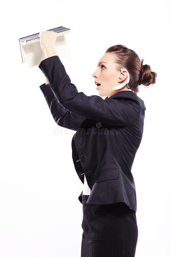 Дама дела с ежедневным плановиком стоковые фото