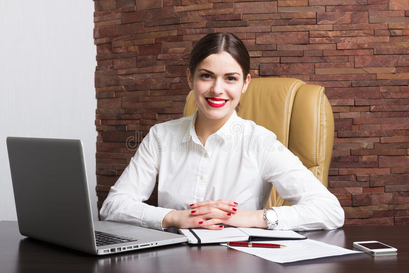 Дама офиса стоковое фото rf
