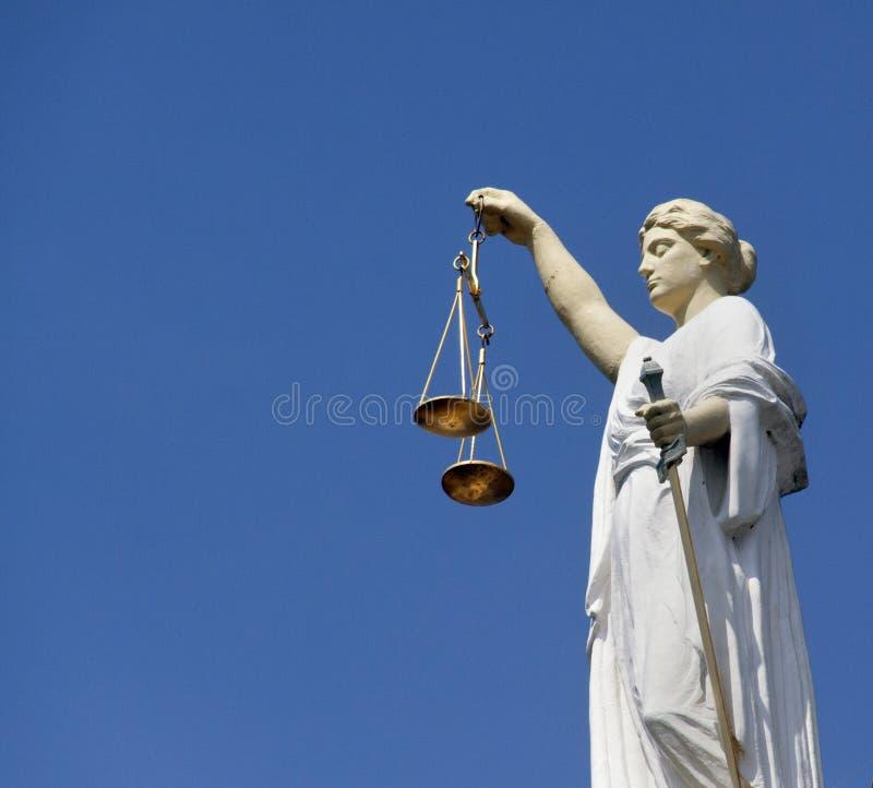 Дама Правосудие Роттердам стоковые фотографии rf
