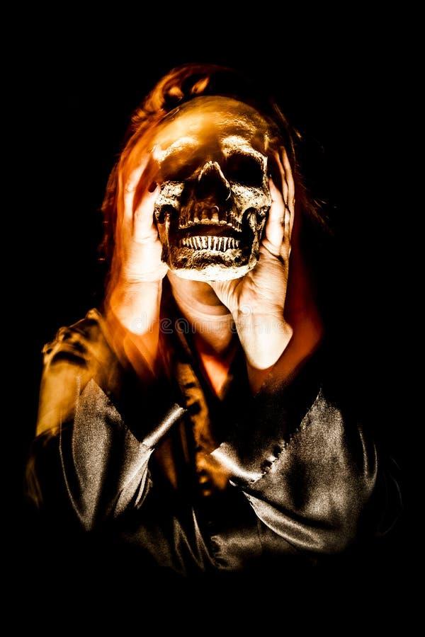 Дама Призрак Череп стоковая фотография rf