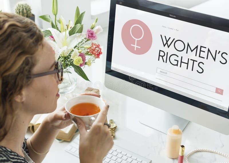 Дама Феминизм Концепция девушки женщины прав женщин женская стоковое изображение rf