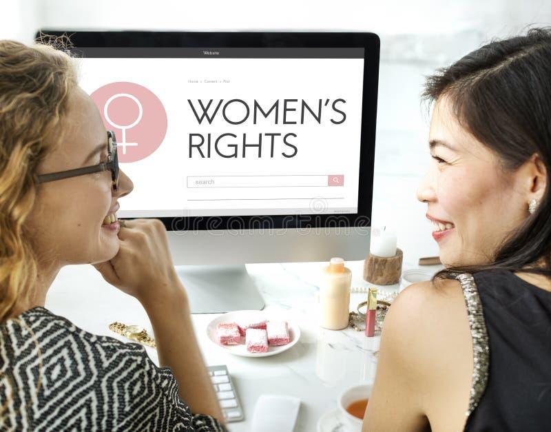 Дама Феминизм Концепция девушки женщины прав женщин женская стоковые изображения