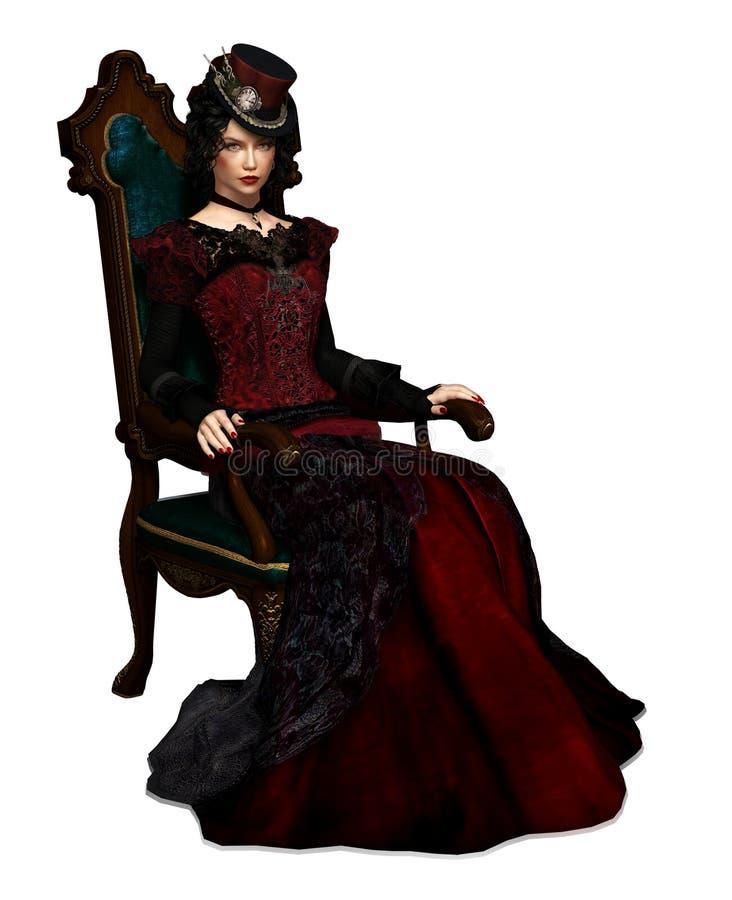 Дама Vlada Портрет CA, 3d CG иллюстрация вектора
