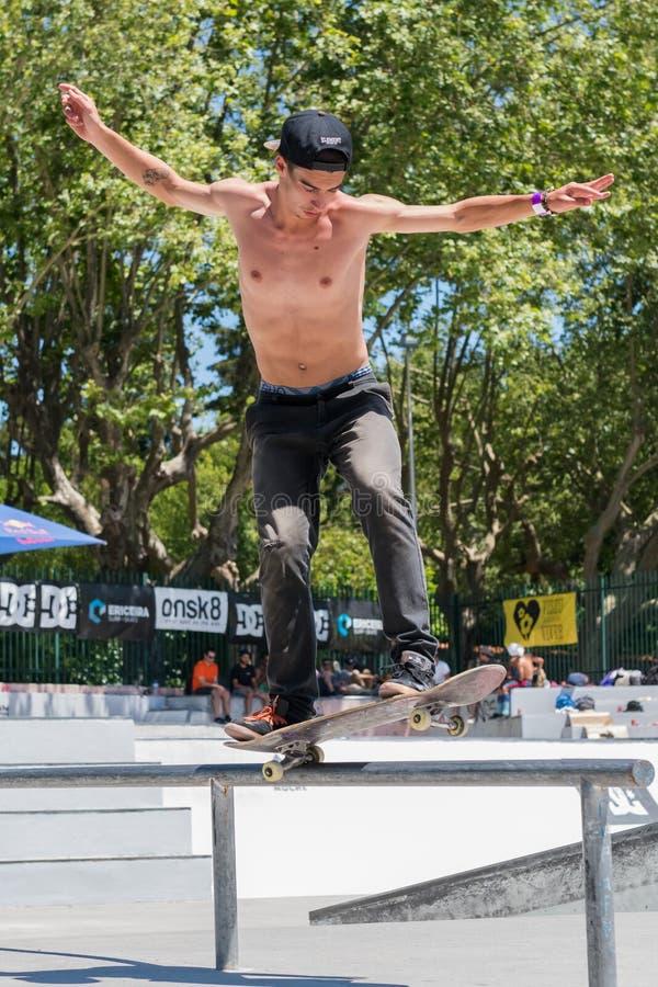 Даниель Ferreira во время возможности конька DC стоковое фото