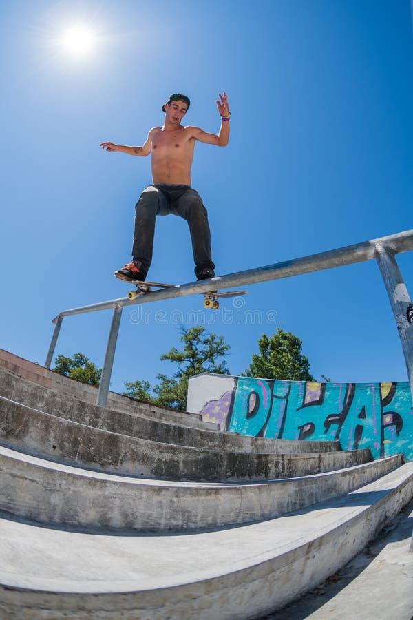 Даниель Ferreira во время возможности конька DC стоковые фото