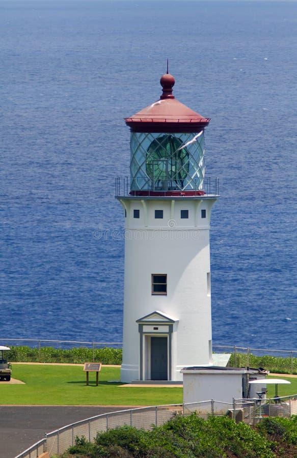 Даниель k Маяк пункта Inouye Kilauea, Кауаи, Гаваи стоковые фотографии rf