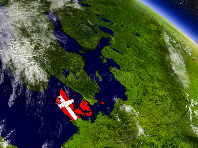 Download Дания с врезанным флагом на земле Иллюстрация штока - иллюстрации насчитывающей флаг, реалистическо: 81803148