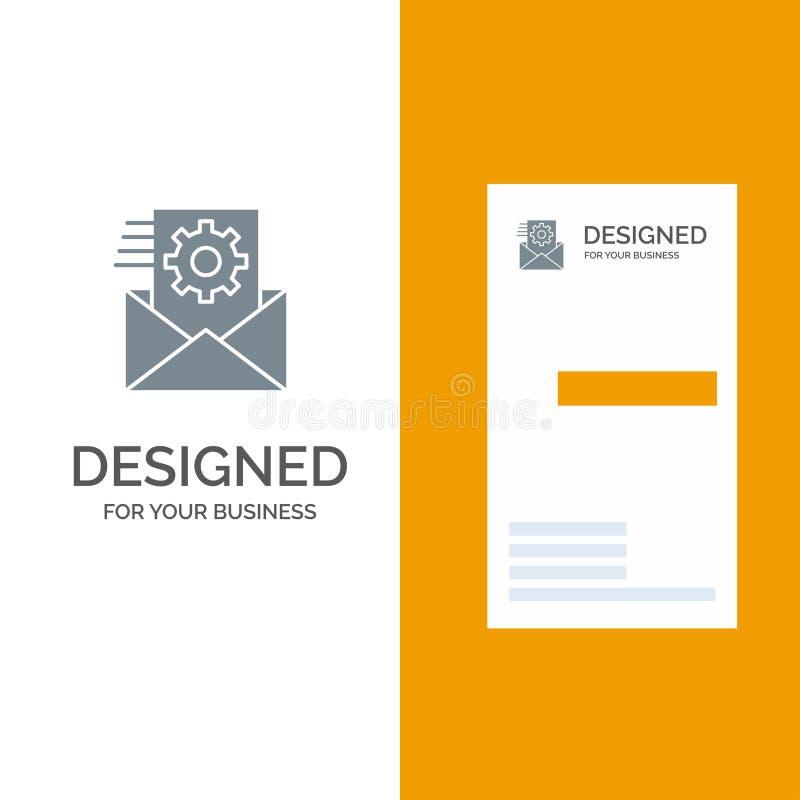 Данные, интеграция данных, управление данными, дизайн логотипа интеграции серые и шаблон визитной карточки бесплатная иллюстрация