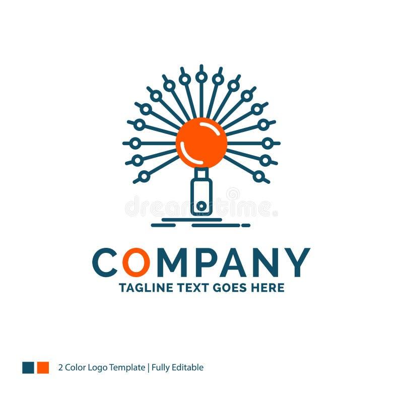 Данные, информация, информационная, сеть, дизайн логотипа возвращения иллюстрация штока