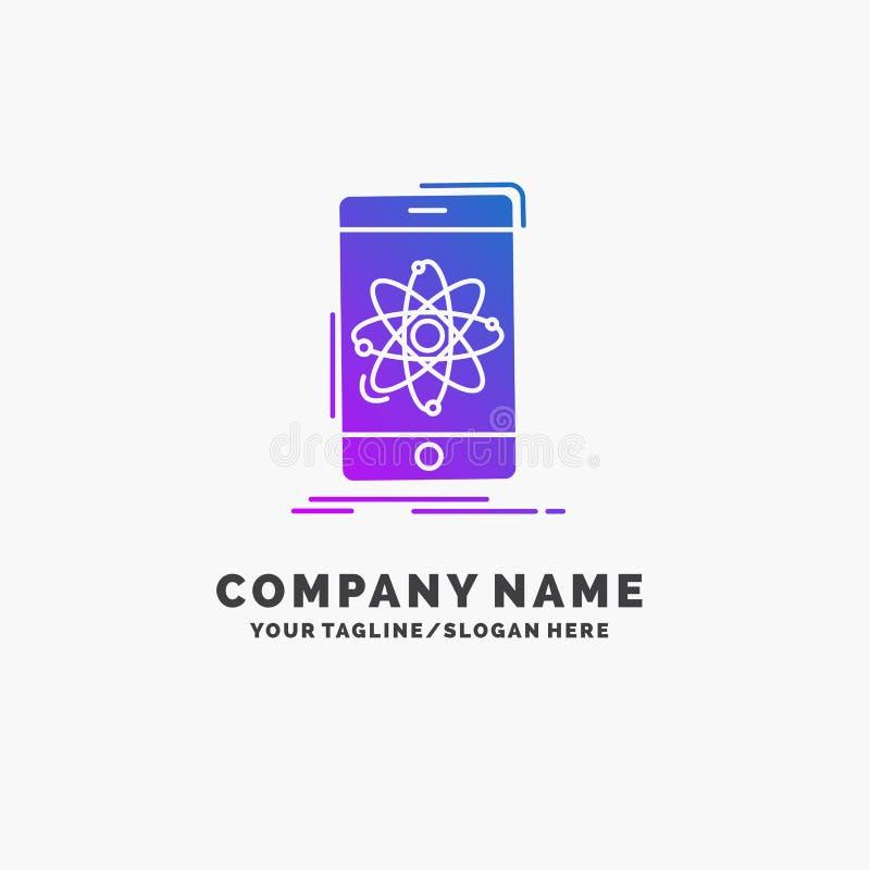 данные, информация, чернь, исследование, шаблон логотипа дела науки пурпурный r иллюстрация штока
