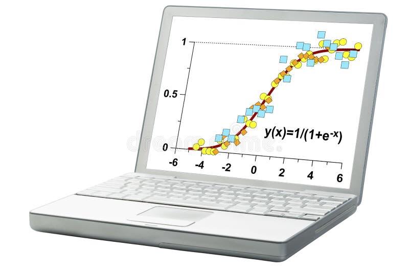 Данные и ограниченная модель роста стоковая фотография