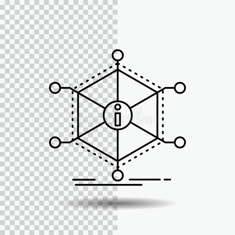 Данные, помощь, информация, информация, ресурсы выравнивают значок на прозрачной предпосылке r иллюстрация штока