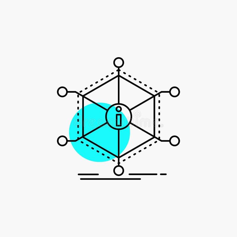 Данные, помощь, информация, информация, ресурсы выравнивают значок иллюстрация вектора