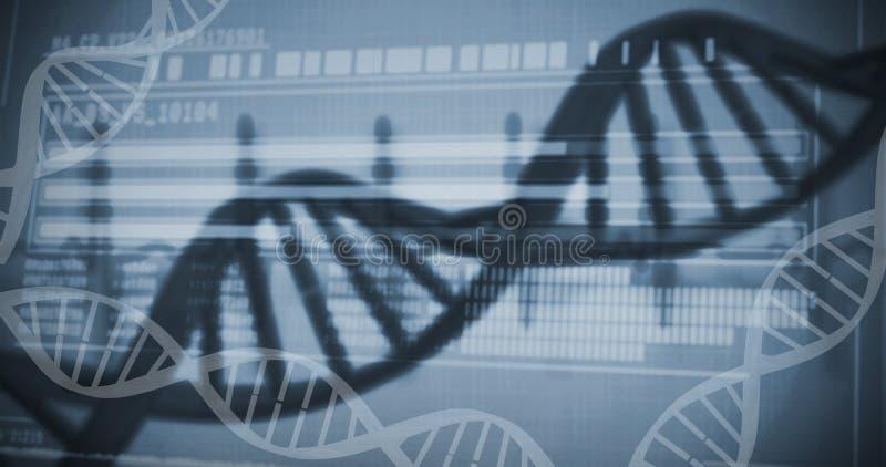 Данные по генетических исследований на дна стоковое изображение
