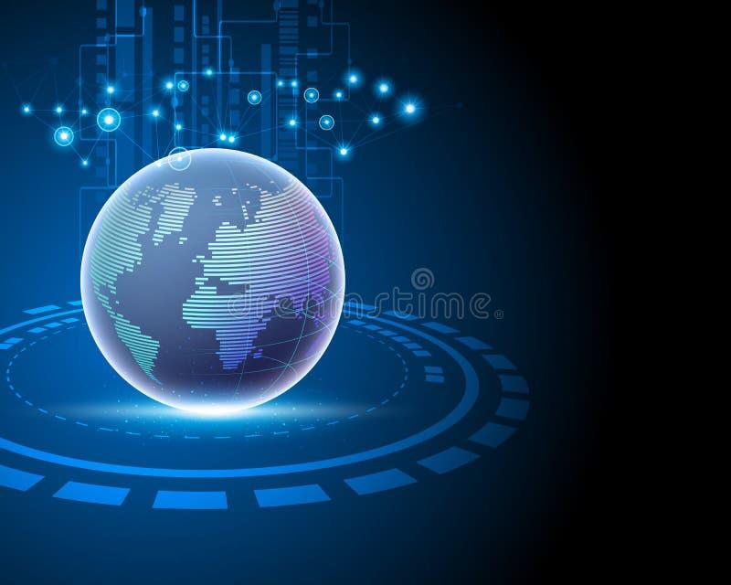 данные по данным по соединения интернета мира 3d глобальные большие иллюстрация штока