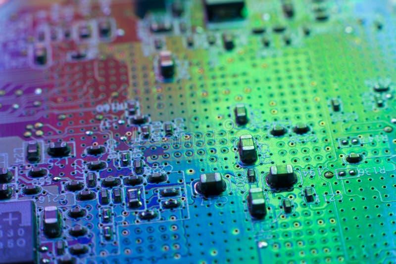 Данные по материнской платы инженерства электроники цифровые стоковое фото rf