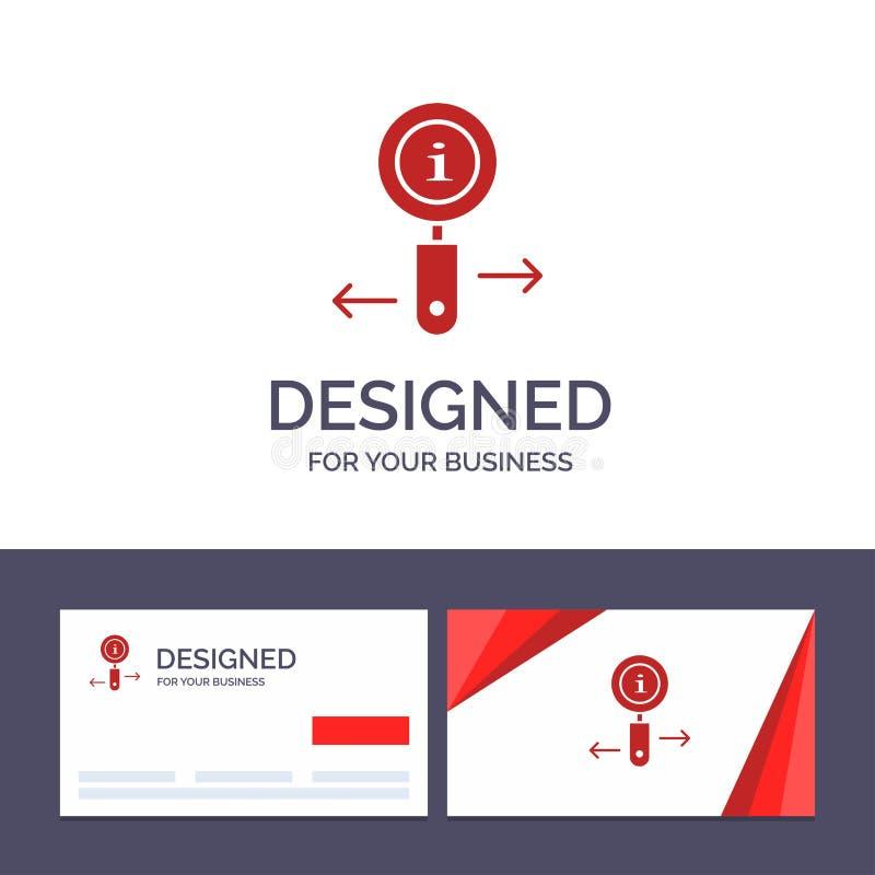 Данные по творческого шаблона визитной карточки и логотипа, информация, сигнал, иллюстрация вектора поиска бесплатная иллюстрация