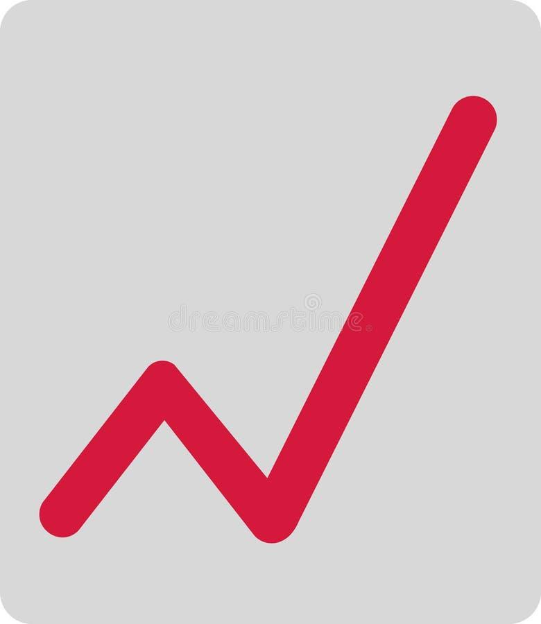 Данные по увеличения диаграммы иллюстрация штока